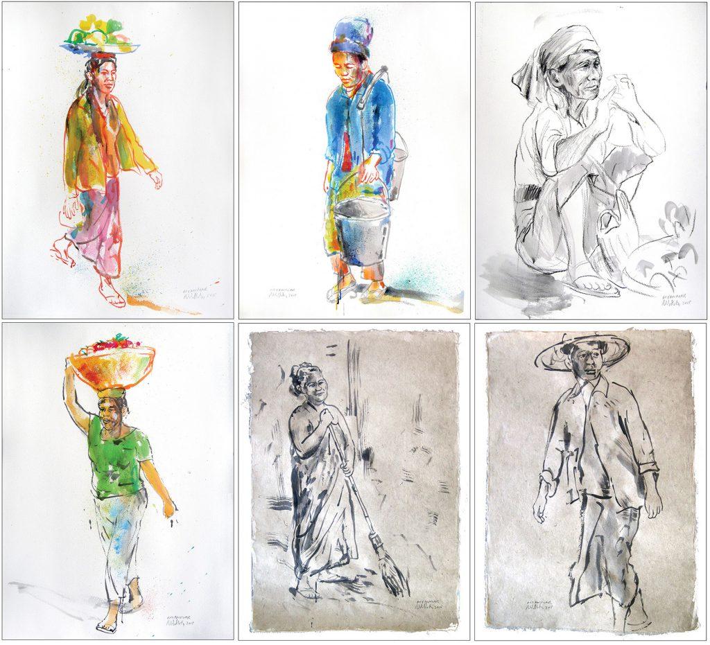 Myanmar tegninger 2